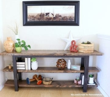 Pottery Barn Inspired Modern Rustic Console Table