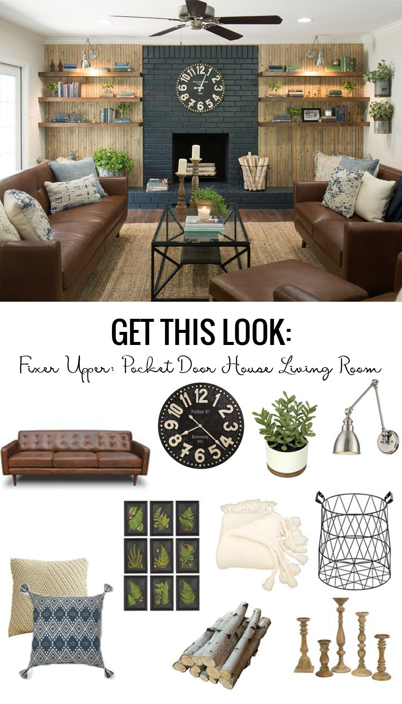 Remodelaholic get this look fixer upper pocket door for Is all the furniture included on fixer upper