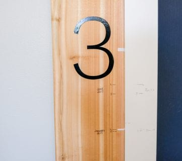 Super Easy Kids Measuring Ruler DIY Growth Chart