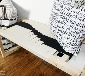 How to Make a Modern DIY Woven Bench