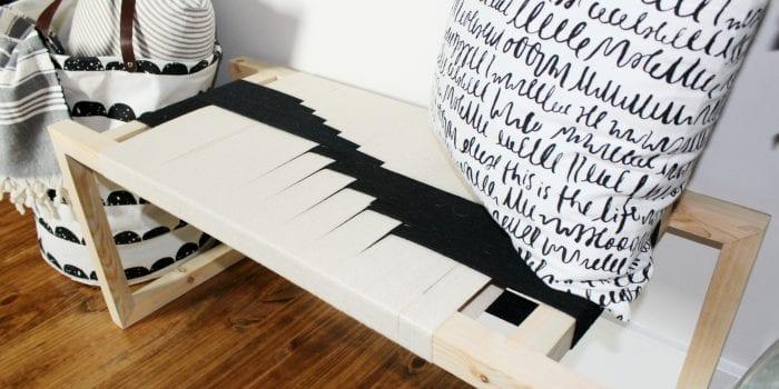 How to Make a Modern DIY Woven Bench