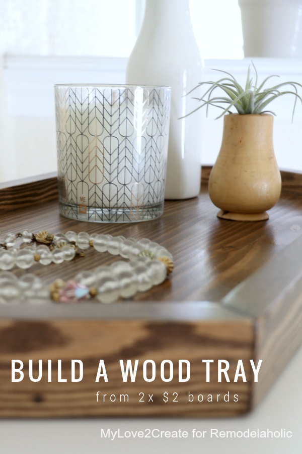 Build A DIY Wood Tray Hexagon From 2 Boards, Remodelaholic