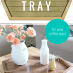 Build A Coffee Table Tray, Long Hexagon Wood Serving Tray Remodelaholic