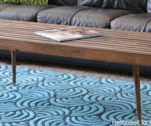 Diy Modern Slat Coffee Table Feature