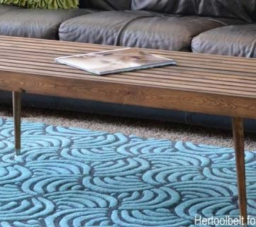Diy Modern Slat Coffee Table Feature