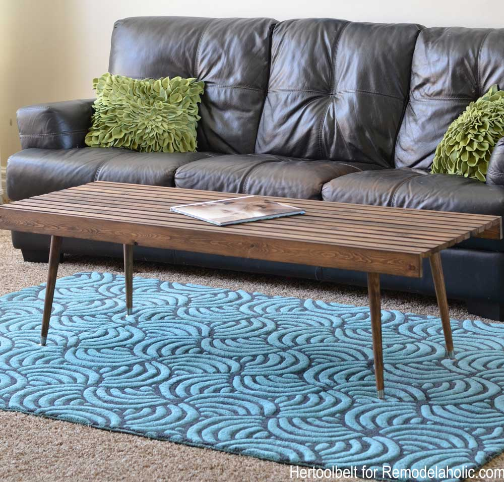 Remodelaholic diy modern slat coffee table building plan build an easy simple and stylish mcm coffee table with free plans geotapseo Image collections
