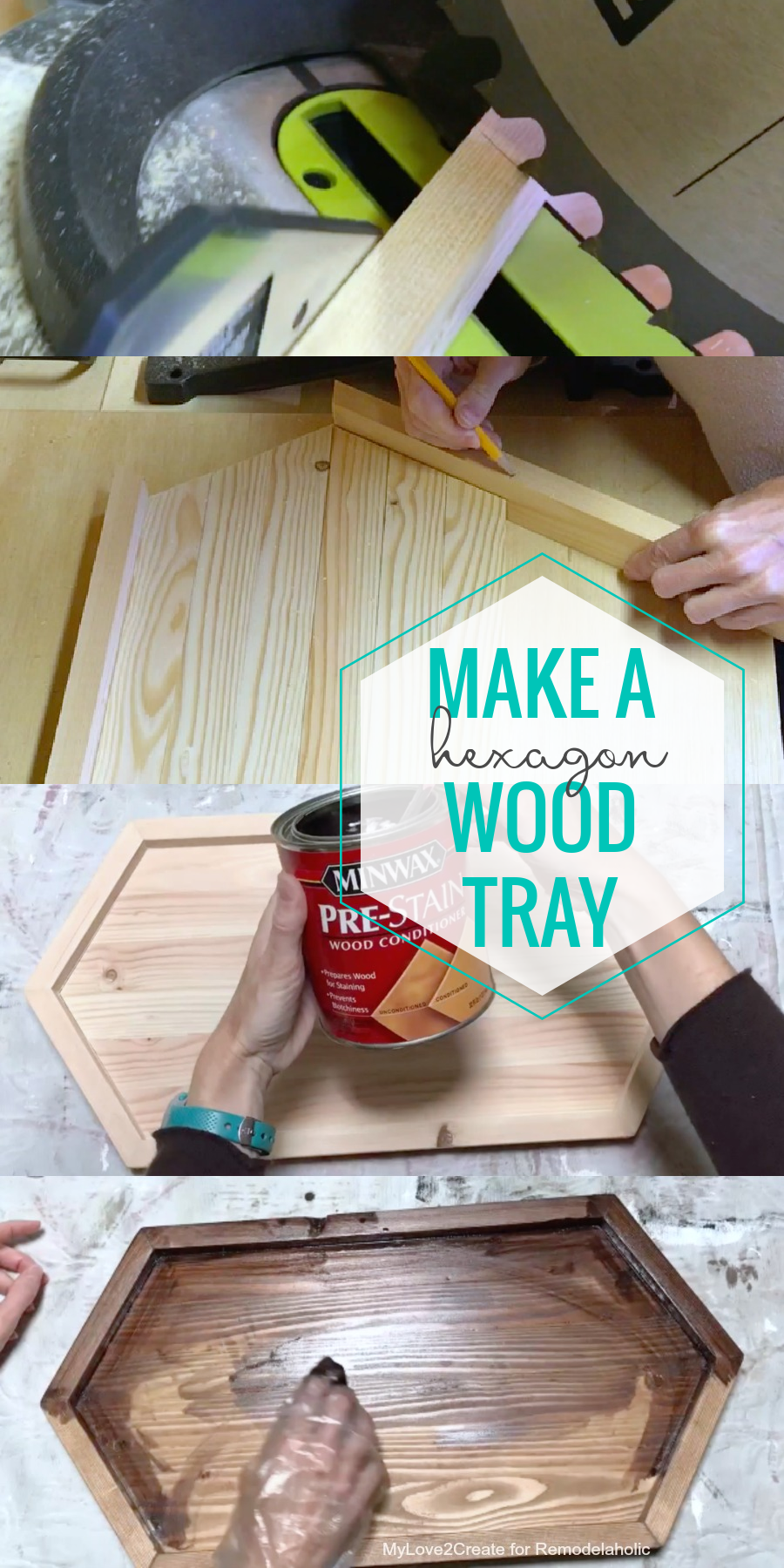 Diy Plans To Make A Long Wood Hexagon Tray For Serving Or Decor, Remodelaholic