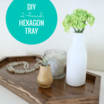 Diy Wood Tray From 2 Boards, Long Hexagon Serving Tray, Remodelaholic