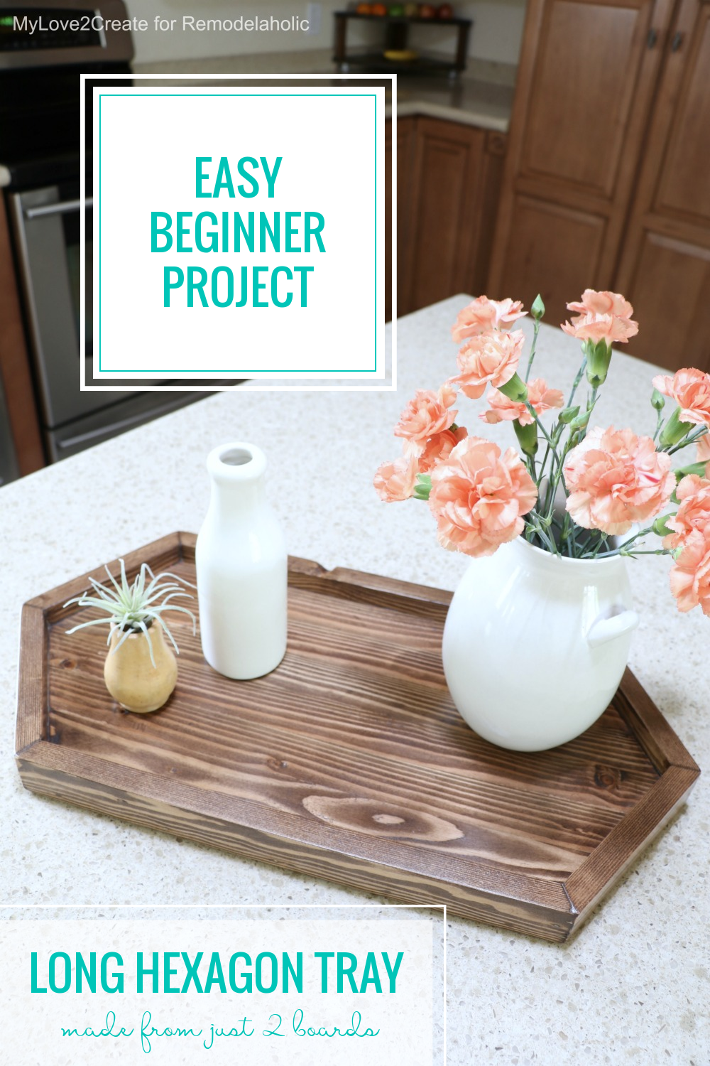 Easy Beginner Woodworking Project Plans, Diy Long Hexagon Wood Serving Tray Remodelaholic