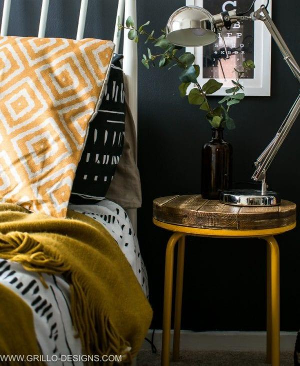 Easy Diy Industrial Side Table Grillo Designs