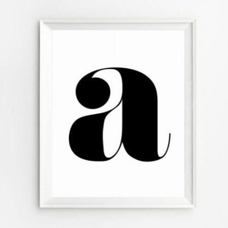 Farmhouse Homework Station 07 Typography Letter Art
