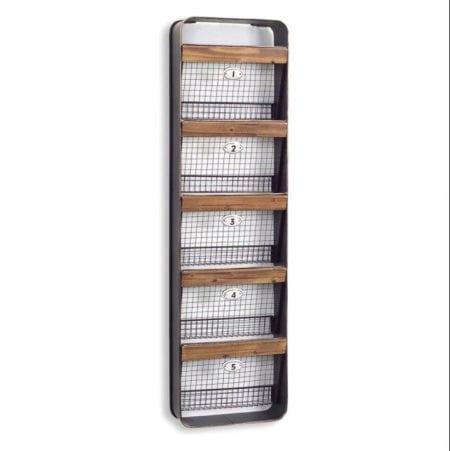 Farmhouse Homework Station 10 Wall Basket Shelf