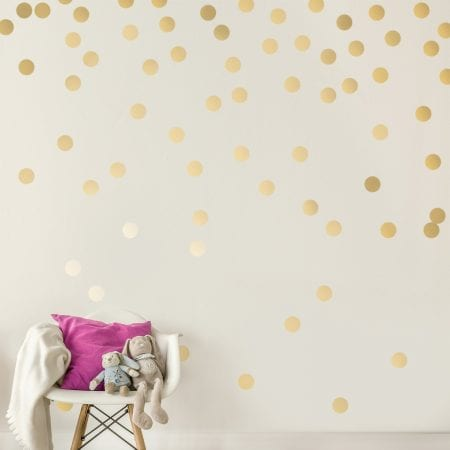 Girls Playroom Metallic Glitter Wall Decals
