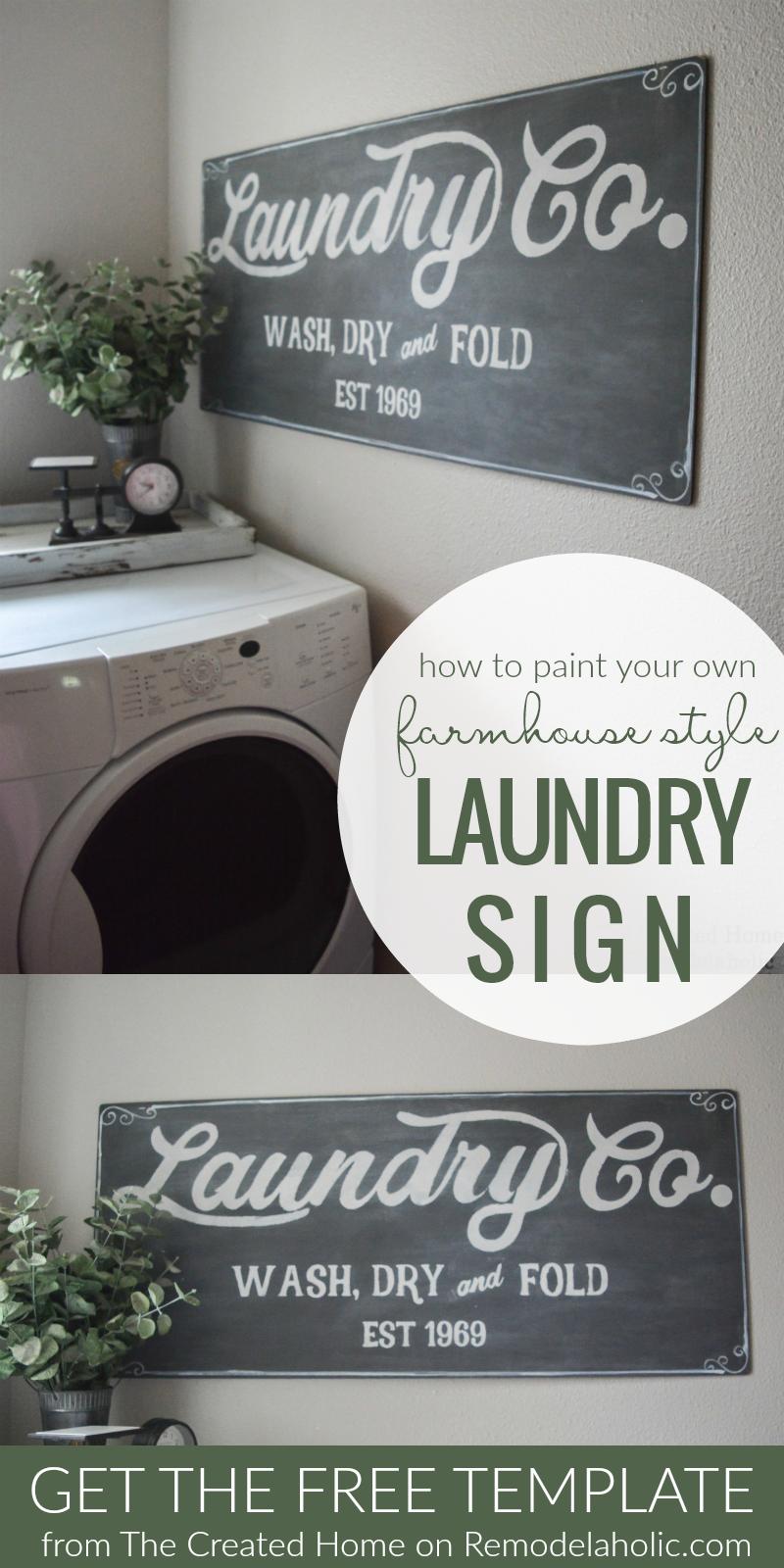 Albert Blog: Fixer Upper Inspired Farmhouse Laundry Sign ...