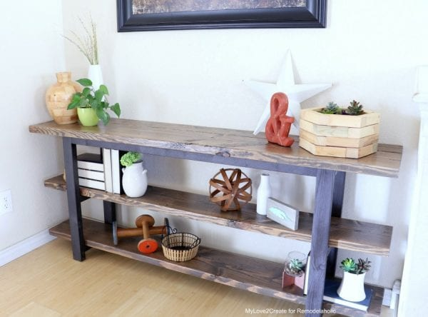 Pottery Barn Inspired Griffin Console Table Plans And Tutorial, MyLove2Create