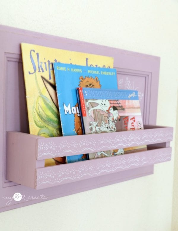 Repurposed Cabinet Door Into Bookshelf, MyLove2Create