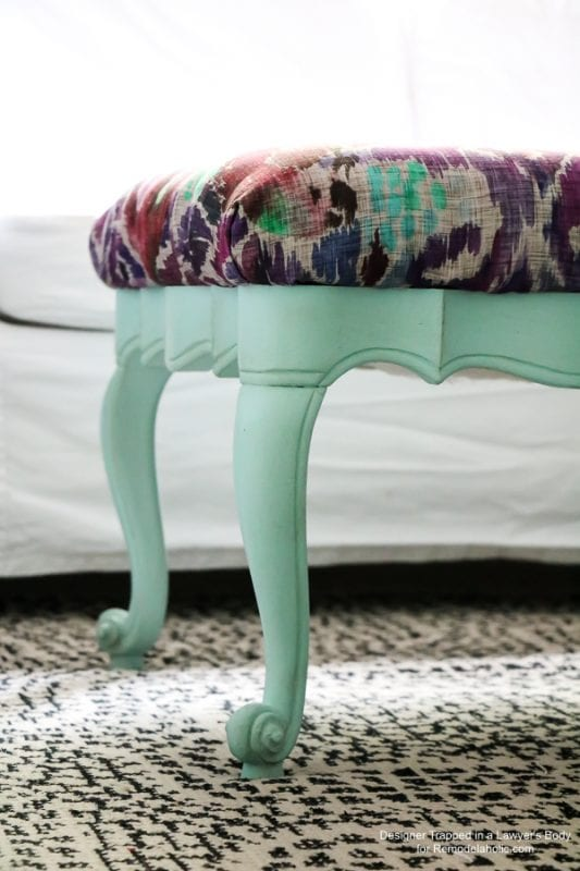 Easy upholstered bench tutorial!