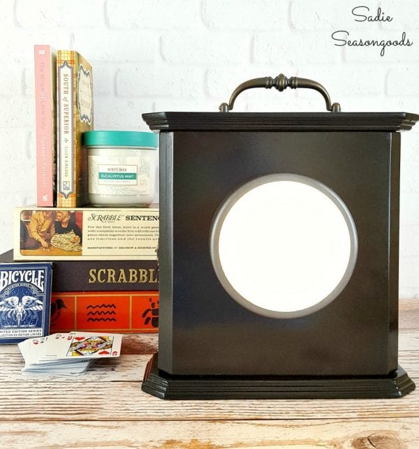 10 DIY Power Outage Lantern And Kit From A Repurposed Broken Thrift Store Clock Cabinet By Sadie Seasongoods