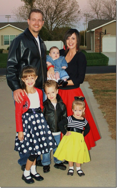 50's Family Costume idea, poodle skirts and more