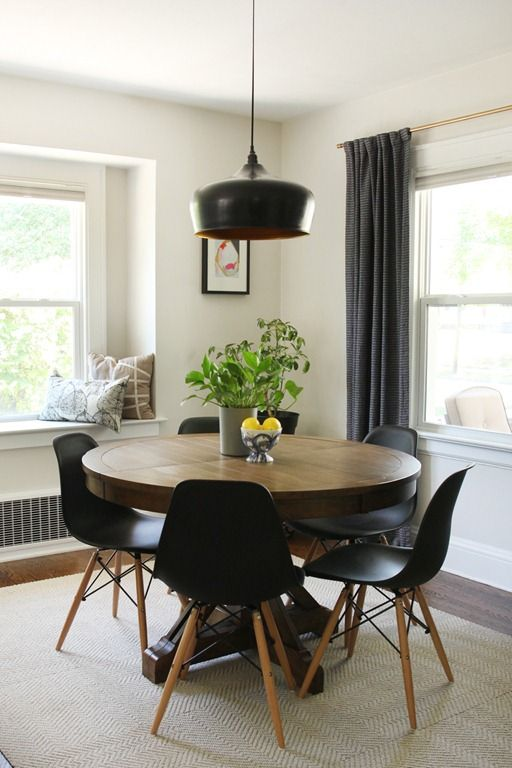 Remodelaholic | Dining in Style: Neutral Mid-Century Modern Dining ...