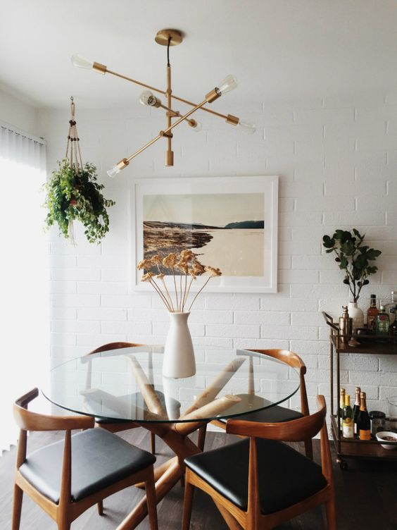 Remodelaholic dining in style neutral mid century Mid century modern living room dining room