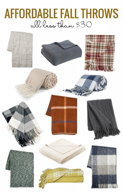 Affordable Fall Throws Under $30 2017