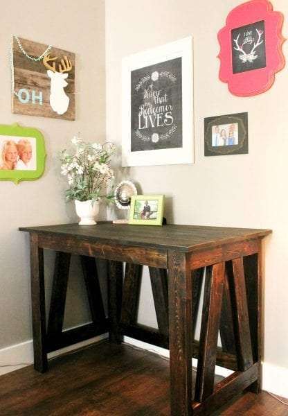 DIY Desk From 2x4s