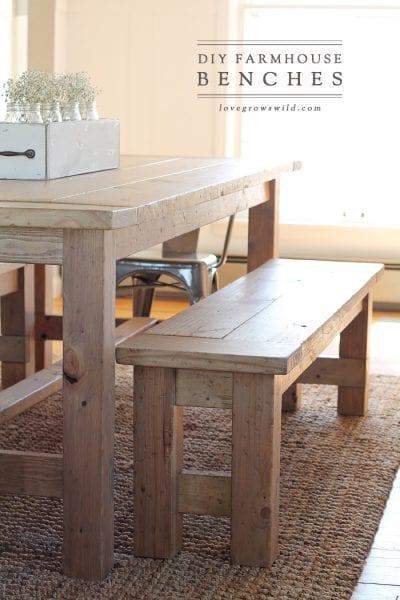 DIY Farmhouse Bench Final