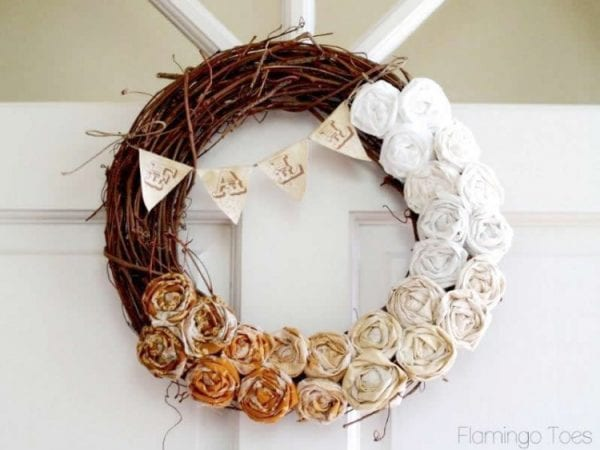 Fall Rosette Wreath by Flamingo Toes
