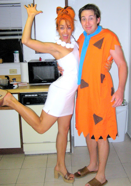 Fred And Wilma CRAFTblog couples costume, add a pebbles, and other characters for a family costume idea