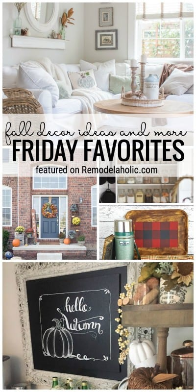 It's Time To Decorate For Fall! Fall Decor Ideas And More Featured On Friday Favorites At Remodelaholic.com