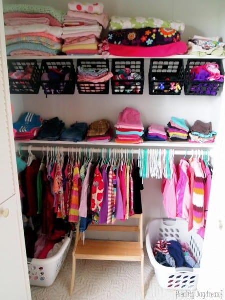 Little Girls Closet Organization Ideas Reality Daydream