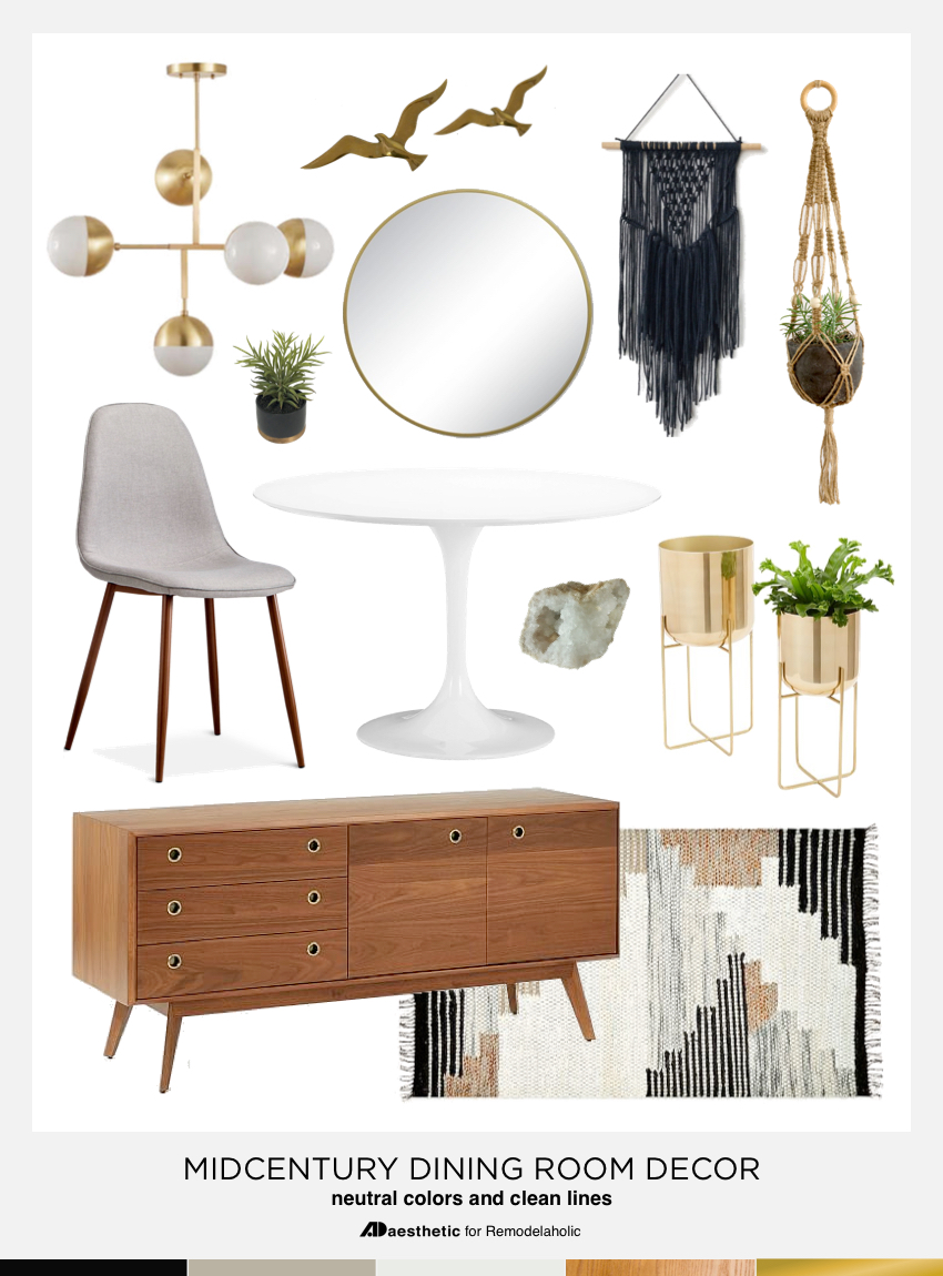 Dining in style neutral mid century modern dining room for Mid century modern dining rooms