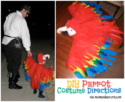 Family Pirate and Parrot Costume momendevors.com