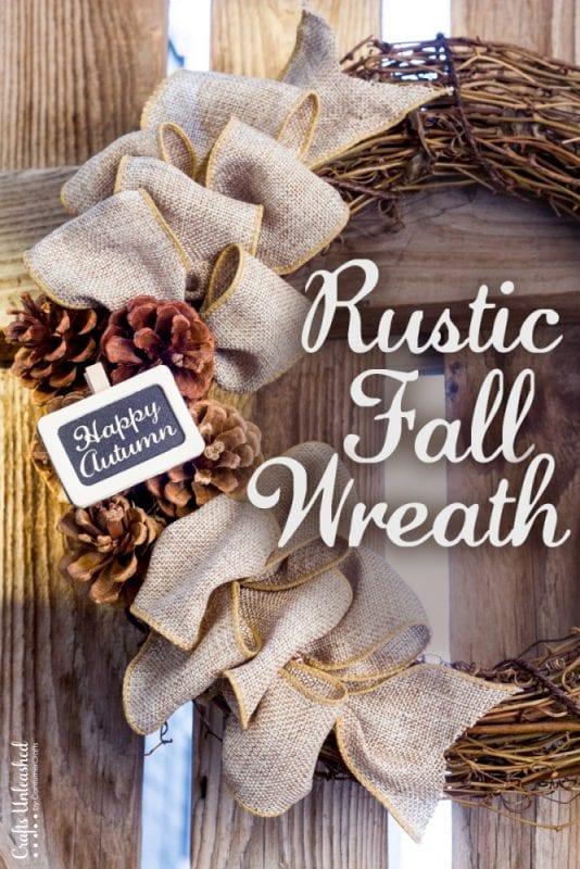 Rustic DIY Fall Wreath Crafts Unleashed 1