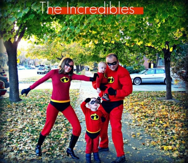 The Incredibles Family costume idea Freshly Completed