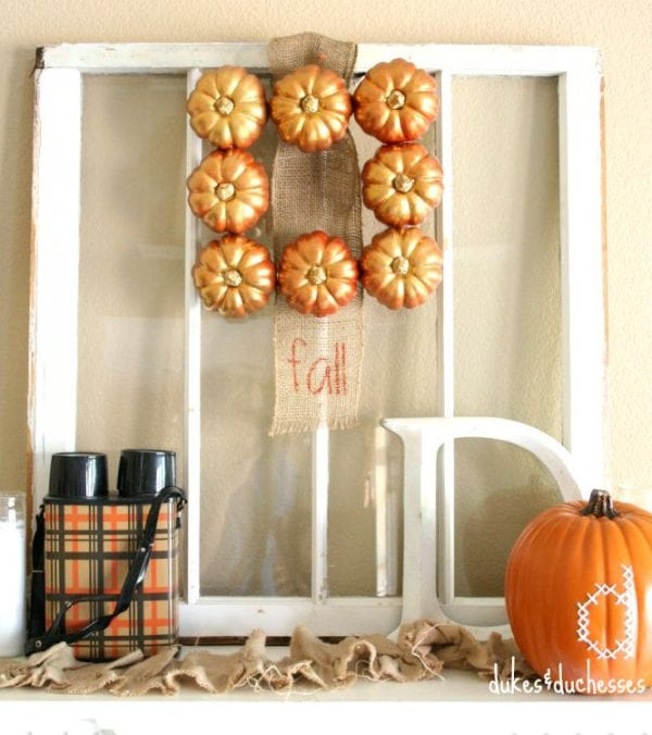 A Mantel For Fall Dukes and Duchesses