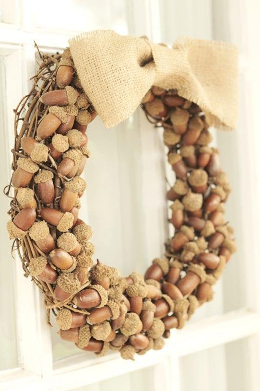 Acorn wreath idea Crafts Unleashed