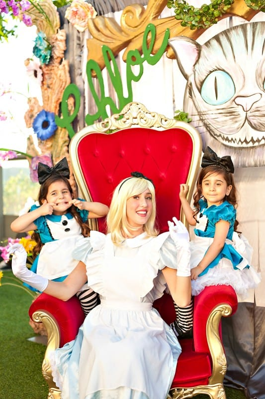 Alice In Wonderland Twins Birthday Party