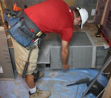 Basement Bathroom Drywall and Cement Board Installation