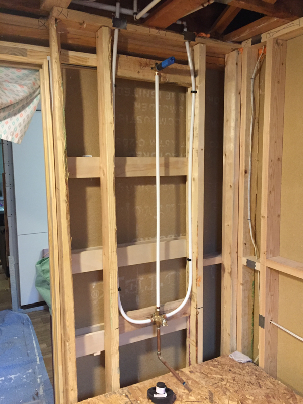 Remodelaholic Basement Bathroom Drywall And Cement Board Installation