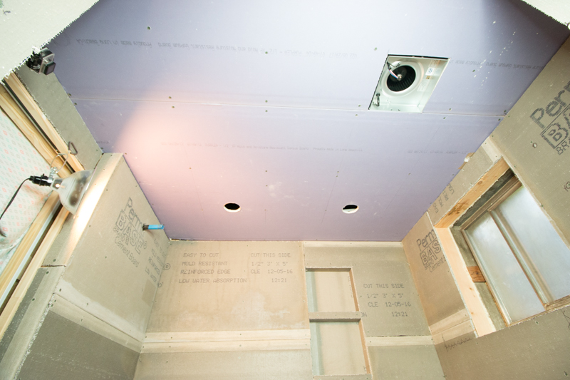 Remodelaholic Basement Bathroom Drywall And Cement Board