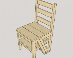 Diy Ladder Chair Sawsonskates 1