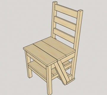 DIY Ladder Chair U2013 A Modern Twist On An American Classic