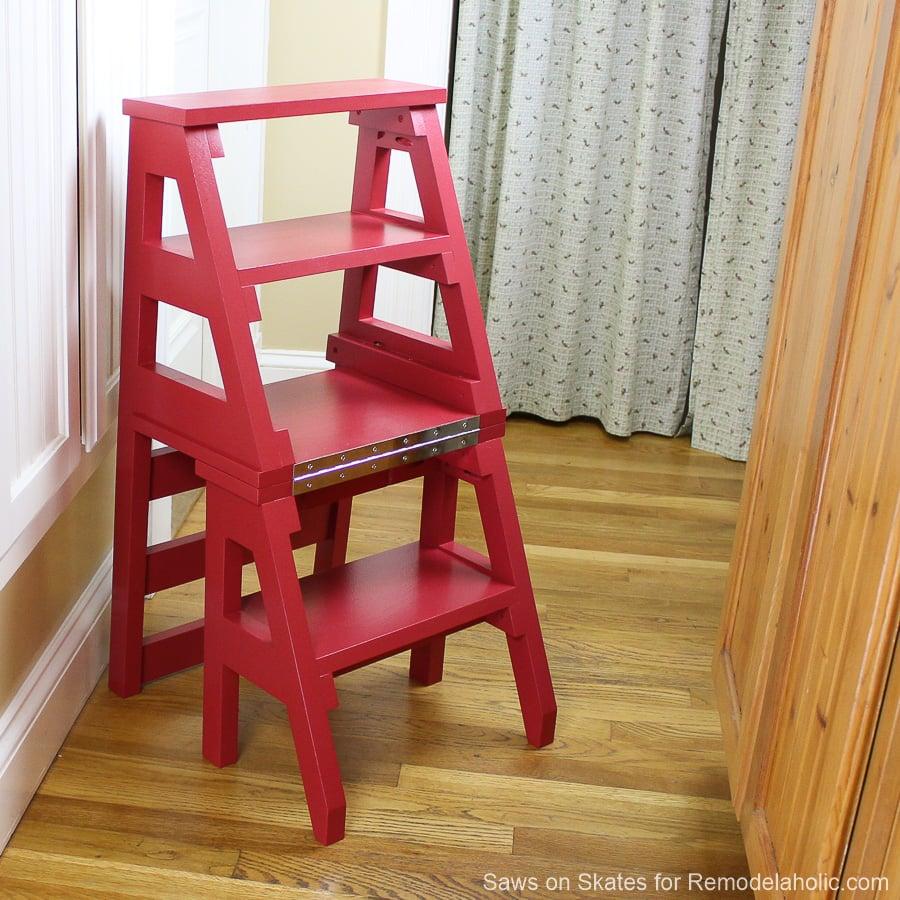 Remodelaholic Diy Ladder Chair A Modern Twist On An