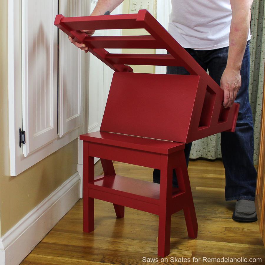 Diy Ladder Chair Sawsonskates Finished 4