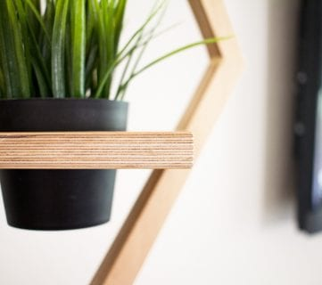 DIY West Elm Modern Hanging Planter Knock-Off