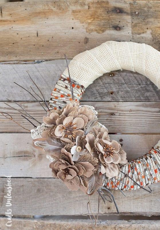 Fall Wreath Diy Rustic Consumer Crafts Unleashed 2