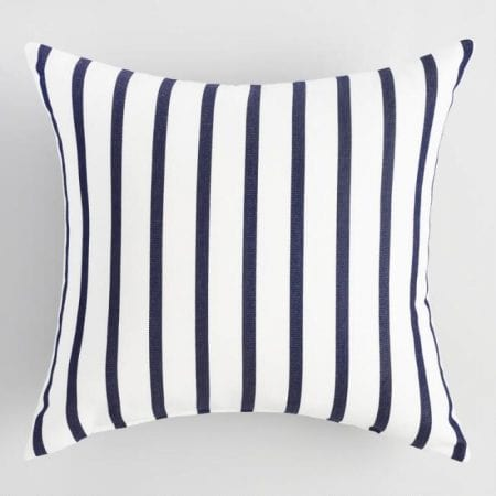 Farmhouse Bedroom 02 Stripe Pillow