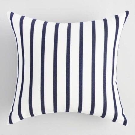 Farmhouse Bedroom 02 Stripe Pillow
